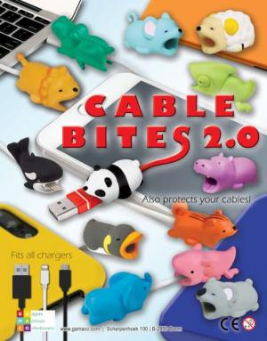 Cable Bites 2.0 to decorate and personalise all cables phone accessory