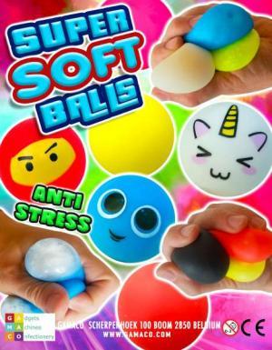 Super Soft Balls _anti stress - super doux _ squishy _ capsules